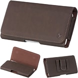 Insten Horizontal Leather Style Pouch Cover with Belt Clip For Samsung Galaxy Mega 6.3 GT-I9200 - B