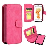Insten Flip Leather Fabric Cover Case Zipper wallet w/stand/card slot/Photo Display For Apple iPhone
