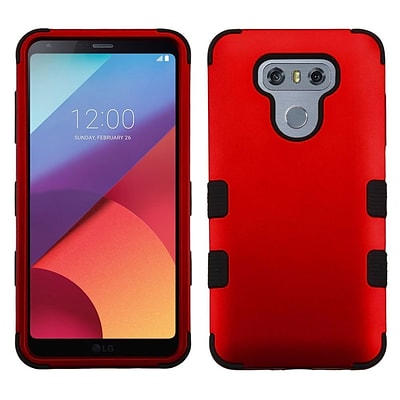 Insten TUFF Hybrid Shockproof Cover Case [Military-Grade Certified] For LG G6 - Titanium Red/Black