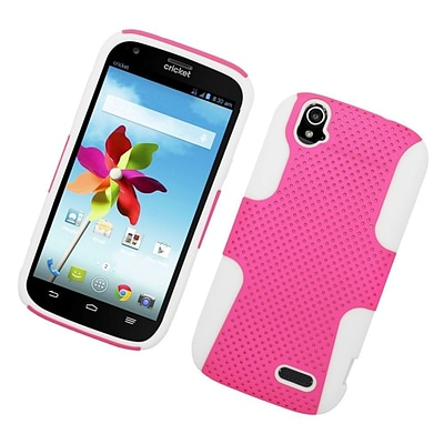 Insten Astronoot Hard Hybrid Rubberized Silicone Cover Case For ZTE Grand X - Hot Pink/White