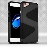 Insten Hard Hybrid TPU Cover Case For Apple iPhone 7/ 8, Black