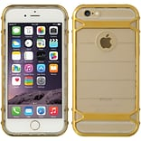 Insten Hard Dual Layer TPU Cover Case For Apple iPhone 6 / 6s - Clear/Gold