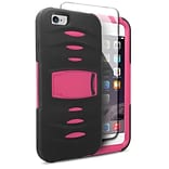 Insten Hybrid Case with stand For Apple iPhone 6s Plus / 6 Plus - Black/Hot Pink
