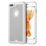 Insten Mesh Airy PC Snap On Cover Hard Snap On Back Cover Case For Apple iPhone 7 Plus - Silver
