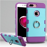 Insten Hard Hybrid TPU Case w/Ring stand For Apple iPhone 7 Plus - Baby Blue/Purple