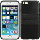 Insten TPU Imd Leather Finish Case Black W For Apple iPhone 6 / 6s
