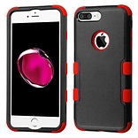 Insten Tuff Hard Hybrid Rubber Silicone Case For Apple iPhone 7 Plus - Black/Red