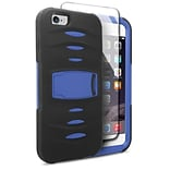 Insten Hybrid 2-Layer Case with Stand For Apple iPhone 6s Plus / 6 Plus - Black/Blue