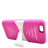 Insten Wave Symbiosis Dual Layer Hybrid Case with stand For iPhone 6s Plus / 6 Plus - Hot Pink/White