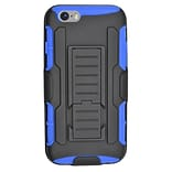 Insten Car Armor Stand Dual Layer Hybrid Case with Holster for iPhone 6 / 6s - Black/Blue