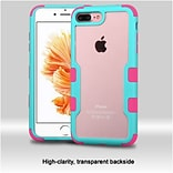 Insten Natural Frame Transparent PC Back TUFF Vivid Hybrid Case Cover For Apple iPhone 7 Plus/ 8 Plu