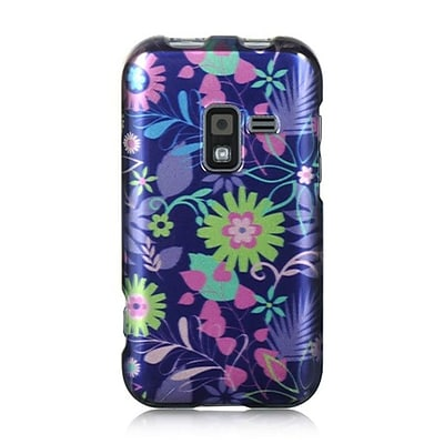 Insten Hard Crystal Skin Back Protective Shell Cover Case For Samsung Galaxy Attain 4G - Blue Multi Weed