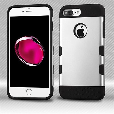 Insten Hard TPU Cover Case For Apple iPhone 7 Plus - Silver/Black