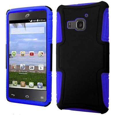 Insten Hard Hybrid Rugged Shockproof Plastic Silicone Case For Huawei Magna - Black/Blue