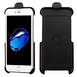 Insten Hard Rubber Coated Case w/Holster For Apple iPhone 7/ 8, Black