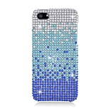 Insten Waterfall Hard Diamante Case For Apple iPhone 5/5S - Blue/Silver