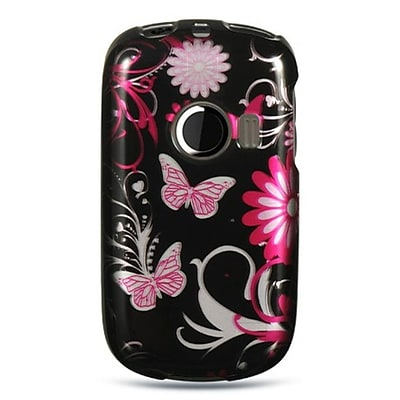 Insten Hard Crystal Skin Back Protective Shell Cover Case For Huawei M835 - Pink Butterfly