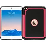 Insten Dots Hard Dual Layer TPU Case For Apple iPad Mini 4 - Black/Hot Pink