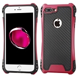Insten Hard Hybrid TPU Cover Case For Apple iPhone 7 Plus - Black/Hot Pink