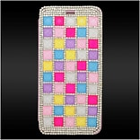 Insten Leather Wallet 3D Rhinestone Case with Card slot For iPhone 6s Plus / 6 Plus - Colorful