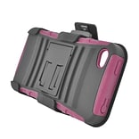 Insten Advanced Armor Dual Layer Hybrid Stand PC/Silicone Holster Case Cover for Apple iPhone 4 / 4S