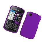 Insten Rubberized Hard Snap-in Case Cover for BlackBerry Q10 - Purple