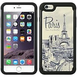 Insten Paris Hard Hybrid Rubber Coated Silicone Case for Apple iPhone 6s Plus / 6 Plus - White/Black