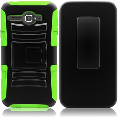 Insten Neon Green Holster Hybrid Stand Case For Alcatel One Touch Sonic LTE