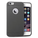 Insten Rubber Gel Skin Cover Case For Apple iPhone 6s Plus / 6 Plus - Gray