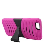 Insten Wave Symbiosis Hybrid Stand Case For Apple iPhone 6s Plus / 6 Plus - Hot Pink/Black
