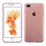 Insten Frosted TPU Rubber Skin Back Gel Shell Cover Case For Apple iPhone 7 Plus/ 8 Plus, Rose Gold