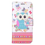 Insten Butterflies Owl PU Leather Image Pouch Flip Wallet Credit Card Stand Case For Samsung Galaxy