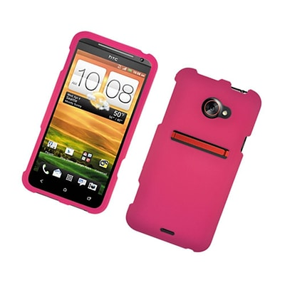 Insten Rubberized Hard Snap-in Case Cover for HTC EVO 4G LTE - Hot Pink
