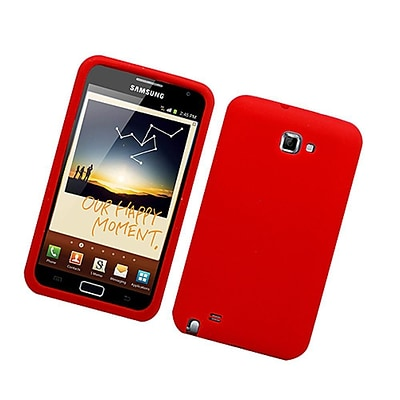 Insten Soft Rubber Case For Samsung Galaxy Note LTE - Red