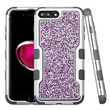 Insten Hard Hybrid Diamond Silicone Case For Apple iPhone 7 Plus/ 8 Plus, Purple/Black