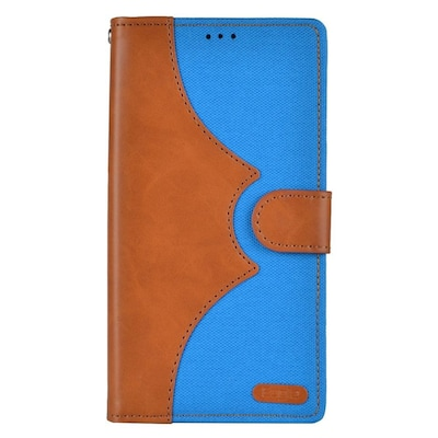 Insten Denim Flip Leather Wallet Pouch Stand Case Cover for Apple iPhone 7 Plus/ 8 Plus, Brown/Blue