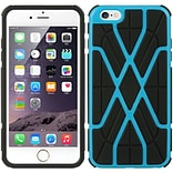 Insten Hard Hybrid TPU Cover Case for Apple iPhone 6s Plus / 6 Plus - Black/Blue