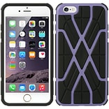 Insten Hard Hybrid TPU Cover Case for Apple iPhone 6s Plus / 6 Plus - Black/Purple