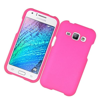Insten Hard Rubber Coated Case For Samsung Galaxy J1 (2016) - Hot Pink