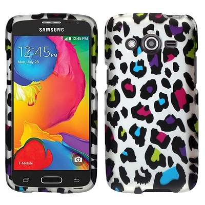 Insten For Samsung Galaxy Avant SM-G386T Snap On Hard Cover Case Colorful Leopard
