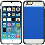 Insten Crystal Black TPU Two Tone PC Rubber Gel Shell Case For Apple iPhone 6 / 6s - Blue