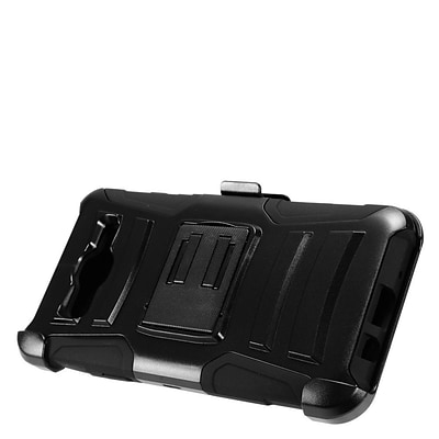 Insten Advanced Armor Hybrid Dual Layer Stand Holster Shockproof Case For Samsung Galaxy On5 - Jet Black