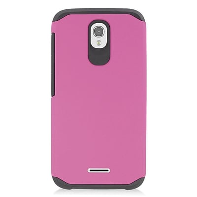 Insten Hard Hybrid Rubberized Silicone Case For Alcatel One Touch Pop Astro - Hot Pink/Black