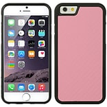 Insten TPU Rubber Skin Gel Case Cover For Apple iPhone 6s Plus / 6 Plus - Hot Pink/Black