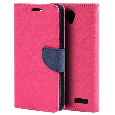 Insten Diary Leather Wallet Flip Card Pocket Stand Case Cover For ZTE Grand X 3 - Red/Blue