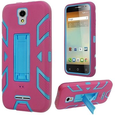 Insten Rubber Hybrid Hard Shockproof Cover Case with Stand For Alcatel One Touch Elevate - Hot Pink/Blue