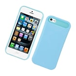 Insten Two-Tone/NightGlow Jelly Hybrid Hard Silicone Case Cover For Apple iPhone 5 / 5S - Blue
