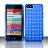Insten Blue TPU Soft Gel Skin Case Cover w/ Pattern For Apple iPhone SE 5