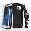 Insten Hard Hybrid Plastic TPU Stand Holster Clip Case + Screen Protector For Samsung Galaxy S7 Edge