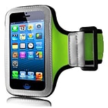Insten Sports Running Gym Armband Skin Phone Holder Case For Apple iPhone SE 5S 5, Neon Green